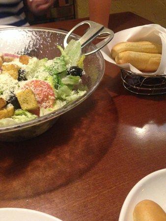 Fresh Salad Hot Bread Sticks Picture Of Olive Garden Orlando Tripadvisor