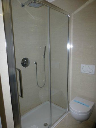 Demetra Hotel: Lovely spacious shower, room 222