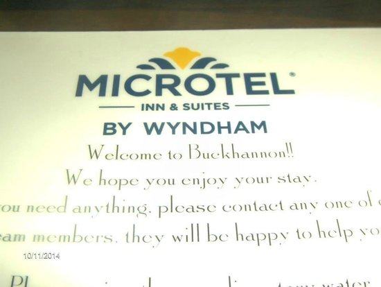 Microtel Inn & Suites by Wyndham Buckhannon : Room Card