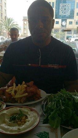Lebanese Mill : Roasted chicken w/ homous!