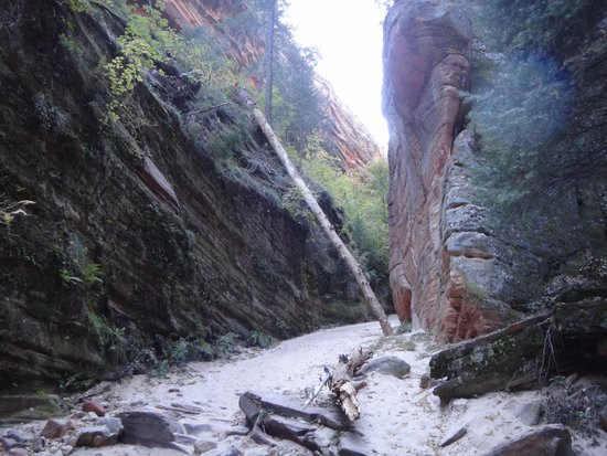 Hidden Canyon: One view soon after the mouth of the Canyon