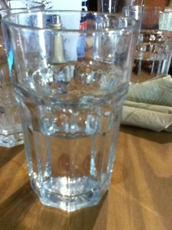 The Store at Belhaven: The water is served in an old fashioned bottle.