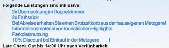 Hotel Gasthof Fellner: Leider gab es den versprochenen Brotzeitkorb nicht...