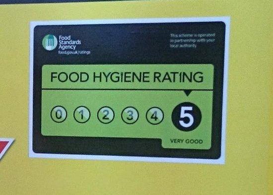 5 Star Food Hygiene Rating Picture Of Cjs Cafe Bistro