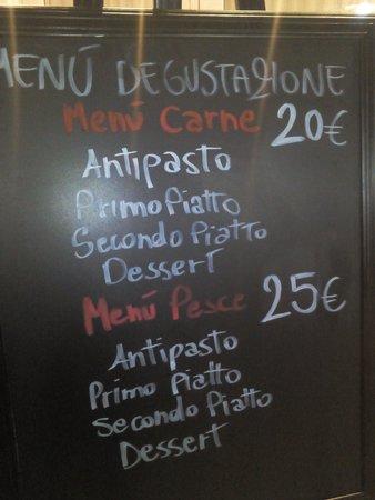 Piazzetta Portaportese: Tutte le sere menu degustazione a carne o pesce a fantasia dello chef