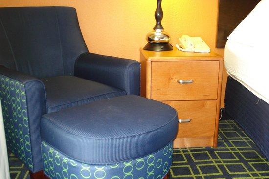 Fairfield Inn Portland Maine Mall: Stains on chair