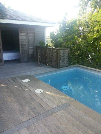 Hotel Plein Soleil: Espace détente piscine