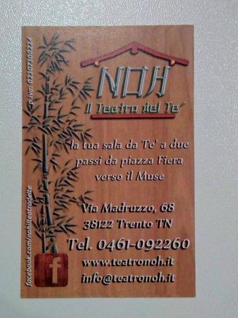 Noh - Il Teatro del Te: il biglietto da visita