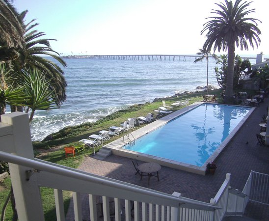 vista da piscina picture of cliff house inn on the ocean. Black Bedroom Furniture Sets. Home Design Ideas