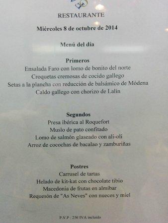 Talaso Atlantico: menu cena