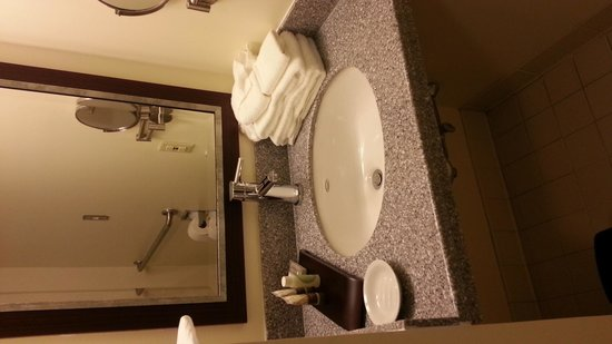 UMass Lowell Inn & Conference Center: the sink...barely room for toiletries