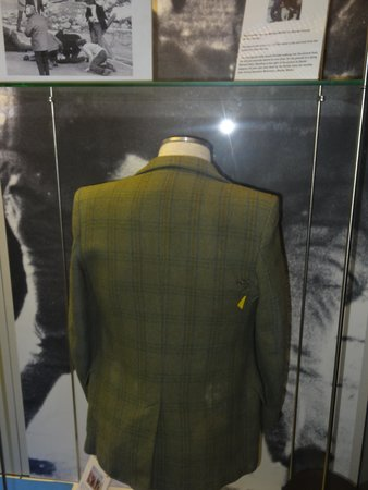 Museum of Free Derry: A jacket of one of the victims, you can see a bullet hole