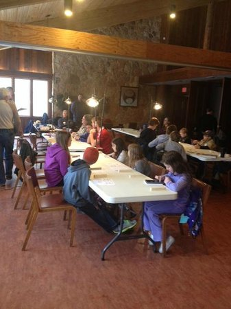 River Bend Nature Center: Woodcarving class in the Main Lodge at River Bend
