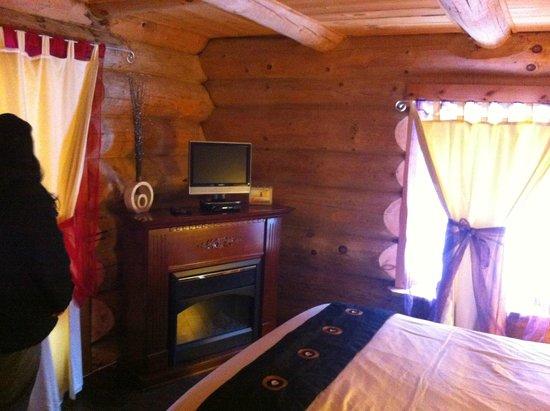 Auberge Couleurs de France: chambre 2, avec foyer