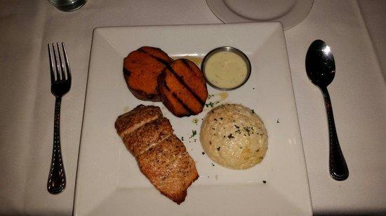 306 North: Salmon, sweet potato truffles & gouda grits