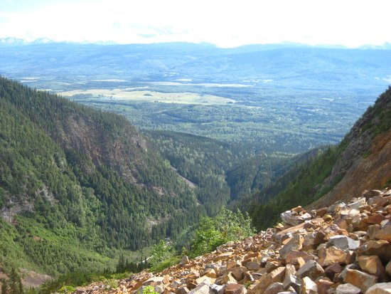 Twin Falls/Glacier Gulch Trails: View from the rock slide area.