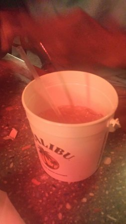 Crackers Bar & Grill: Malibu bucket... Enough for two and you keep the bucket