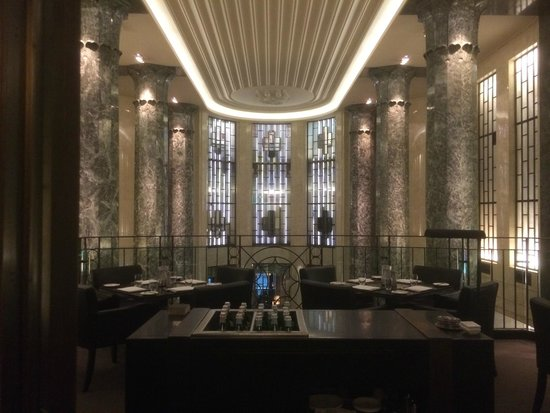 Stylish art deco interior picture of rockpool bar grill