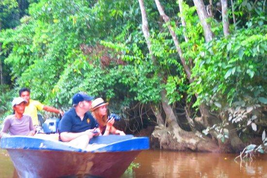 Sukau Greenview Bed & Breakfast : Excursión en bote por la tarde
