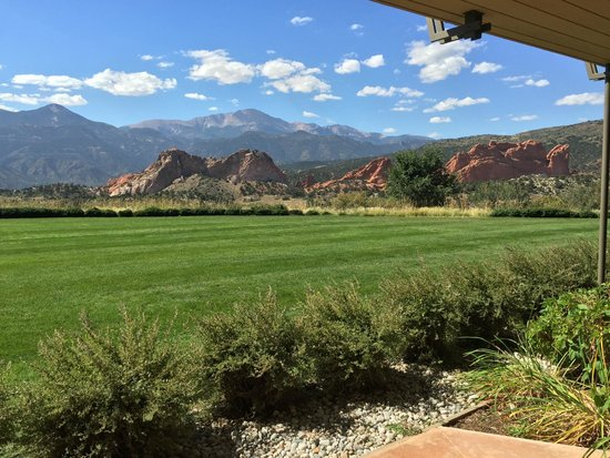 The view of the Garden of the Gods from our room! - Picture of ...