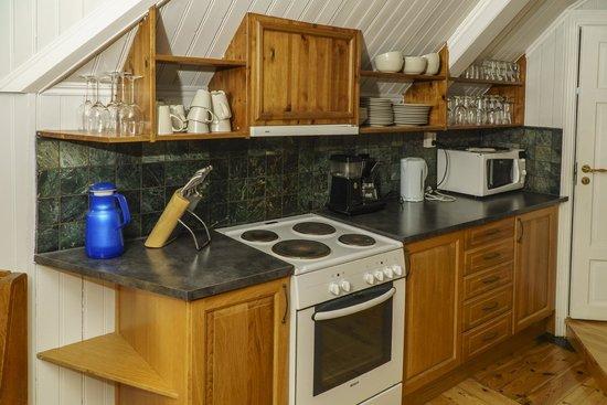 Kjobmandsgaarden Hotel : Kjøkkenkroken på rommet
