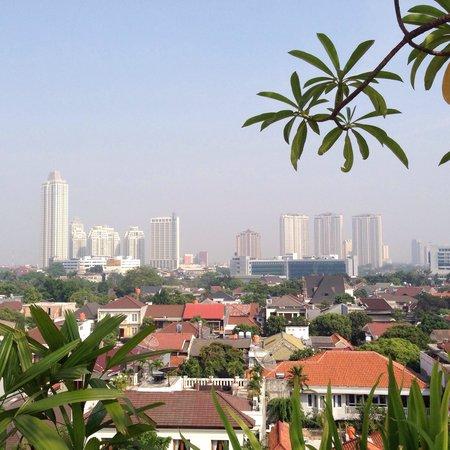 Hotel Gran Mahakam Jakarta: プールからの眺め