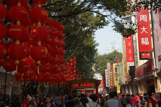 Beijing Road Ancient Avenue: Пекинская улица под Новый Год