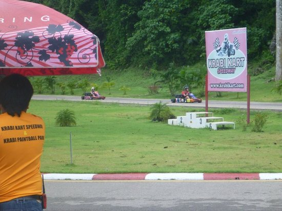 Krabi Kart Speedway: Down the back straight.