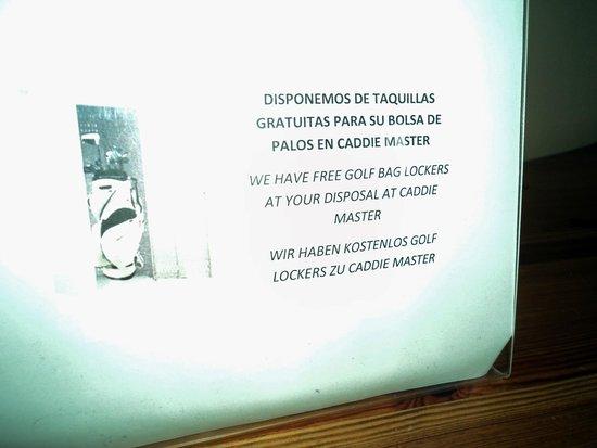 Barceló Montecastillo Golf: Pas de casier libre !