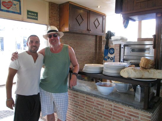 The Italian Job: Me and the owner Fabio