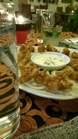 Champor-Champor Restaurant & Bar : fried shrimp with coconut milk dip