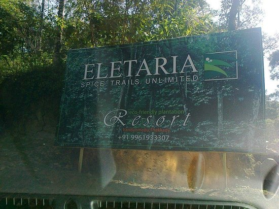 Hotel Eletaria Resort: The hoarding on the road