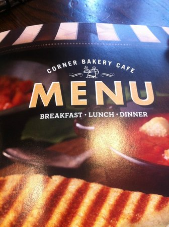 Corner Bakery Cafe: Menu