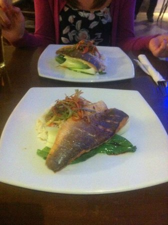 The Seafood Cafe: Seabass special