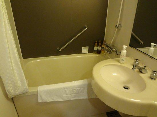 Hotel Vista Premio Dojima: 浴槽の蛇口はレバー式です
