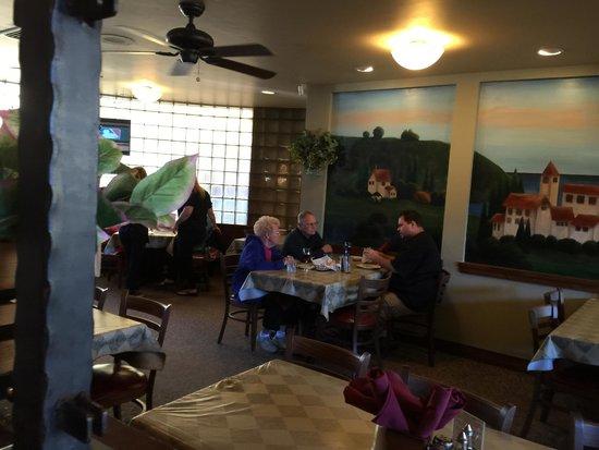 Zano S Family Italian Pizza Loolking Into An Eating Area At