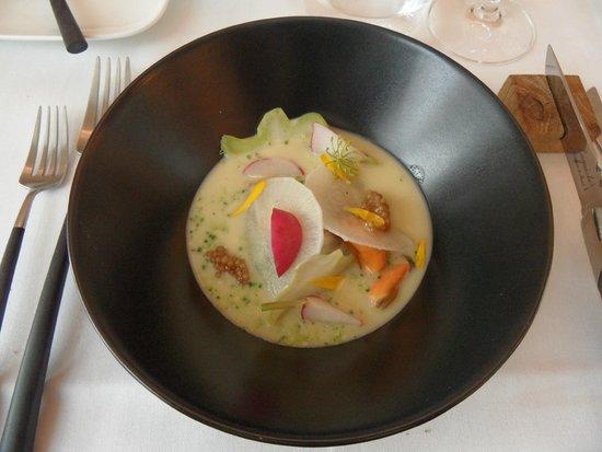 Restaurant 6 Zinnen: Voorgerecht: mossel - quinoa