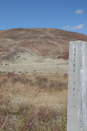 Crossings Winery: Oregon Trail 'ruts' - Glenn's Ferry Idaho