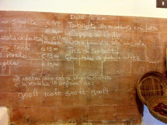 Agriturismo Ponterosa: Un menu originale