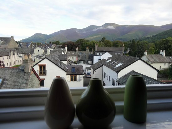 Pitcairn House: Early morning view of Skiddaw from my bedroom window