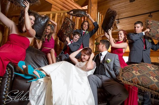 The Lodge at Lolo Hot Springs : A little fun after the ceremony