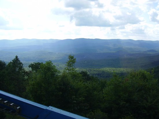 Amicalola Falls State Park Lodge Restaurant: View from our table.