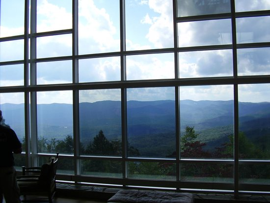 Amicalola Falls State Park Lodge Restaurant: Nice picture window just outside of restaurant.