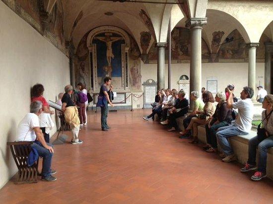 Tour Guide Florence Riccardo Benni Tours: Riccardo Benni con il Club Subacqueo Artiglio al Convento di San Marco