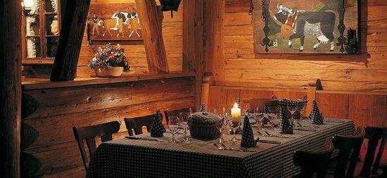 Gstaad Palace Hotel : il ristorante tipico swiss dove ho cenato