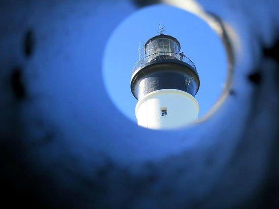 Le phare de chassiron : phare de Chassiron, par la lorgnette