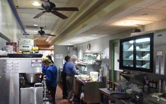 Round The Clock Restaurant Kitchen Area