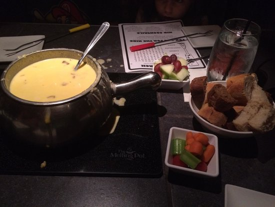 The Melting Pot - Gaithersburg: Cheese and bacon. It can't be wrong!