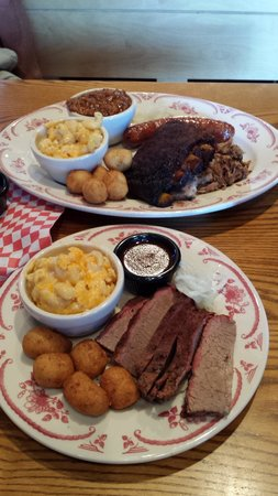 Midwood Smokehouse : Combo Platter and Texas Beef Brisket