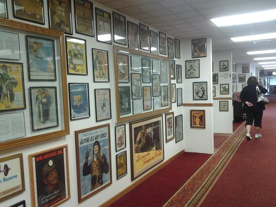 Voyageur Inn and Conference Center: one of the hallways filled with the collection